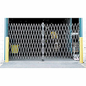 "Double Folding Security Gate, 12-1/2""W to 10'W x 6-1/2'H"