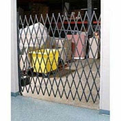 "Single Folding Security Gate, 10""W to 5-1/2'W x 5'H"