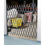 "Single Folding Security Gate, 18""W to 7-1/2'W x 8'H"