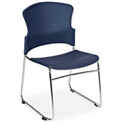 OFM Multi-Use Plastic Stack Chair, Navy - Pkg Qty 4