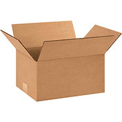 "12""x9""x6"" Corrugated Boxes, 200lb. Test/ECT-32 25 Pack - Pkg Qty 25"