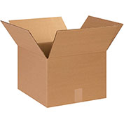 "Cardboard Corrugated Box, 14"" x 14"" x 10, 25 Pack"