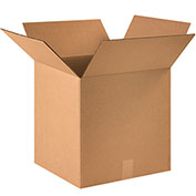 """16""""x16""""x16"""" Corrugated Boxes, 200lb. Test/ECT-32 25 Pack"""