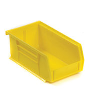 "AkroBin® Plastic Stacking Bin, 4-1/8""W x 7-3/8""D x 3""H, Yellow - Pkg Qty 24"