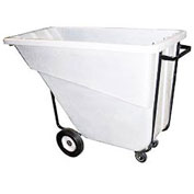 Bayhead 5/8 Cubic Yard Tilt Truck, Medium Duty, 1000 Lb. Capacity, White