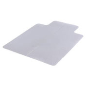 """46""""W x 60""""L Office Chair Mat w/ 25"""" x 12"""" Lip for Carpeted Floor"""