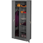 "TENNSCO Combination Cabinet - 36x18x78"" - Unassembled - Gray"