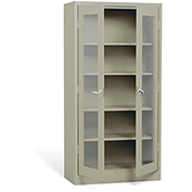 "ATLANTIC METAL Visual Storage Cabinet - 36x18x72"" - Putty"