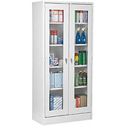 "ATLANTIC METAL Visual Storage Cabinet - 36x24x72"" - Gray"