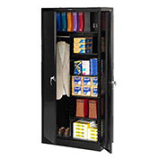 Tennsco Industrial Combination Storage Cabinet, 36x24x78 Black