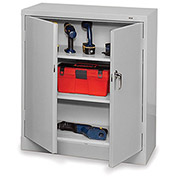 "TENNSCO Storage Cabinet - 36x18x42"" - All-Welded - Light gray"