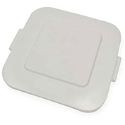 Brute Flat Lid For 28 Gallon Square Waste Receptacles, White