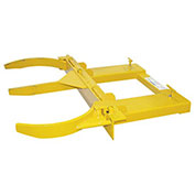 Steel Double Fork Mounted Drum Gripper, Yellow