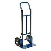 Industrial Strength Steel Hand Truck with Curved Handle