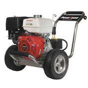 BE Pressure PE-4013HWPSCOMZ 4000 PSI Pressure Washer 13hp Honda Gx Engine, Stainless Steel Frame