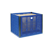 "Stackable Vented Wall Bulk Container, 39-1/4""L x 31-1/2""W x 29""H Overall"