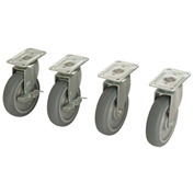 Bulk Container Caster Set (2 Swivel/2 Locking)
