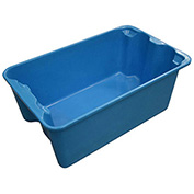 "Molded Fiberglass Toteline Nest and Stack Tote 7804085268 - 20-1/2"" x 12-7/8"" x 8"", Blue - Pkg Qty 10"