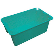 "Molded Fiberglass Toteline Nest and Stack Tote 7804085170 - 20-1/2"" x 12-7/8"" x 8"", Green - Pkg Qty 10"
