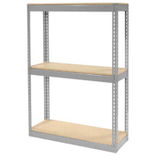 "Record Storage Rack Without Boxes, 42""W x 15'D x 60'H, Gray"