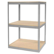 "Record Storage Rack Without Boxes, 42""W x 30""D x 60""H, Gray"