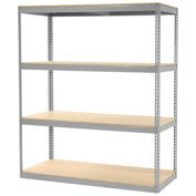 "Record Storage Rack Without Boxes, 72""W x 30""D x 84""H, Gray"