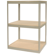 "Record Storage Rack Without Boxes, 42""W x 30""D x 60""H, Tan"