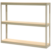 "Record Storage Rack Without Boxes, 72""W x 15""D x 60""H, Tan"