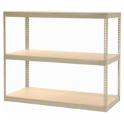 "Record Storage Rack Without Boxes, 72""W x 30""D x 60""H, Tan"