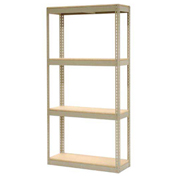 "Record Storage Rack Without Boxes, 42""W x 15""D x 84""H, Tan"
