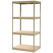 "Record Storage Rack Without Boxes, 42""W x 30""D x 84""H, Tan"