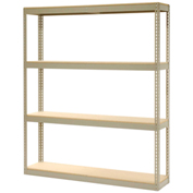 "Record Storage Rack Without Boxes, 72""W x 15""D x 84""H, Tan"