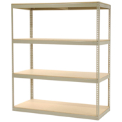 "Record Storage Rack Without Boxes, 72""W x 30""D x 84""H, Tan"