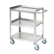"Stainless Steel Utility Cart, 400 Lb. Cap., 24""L x 16-1/4""W x 33""H"
