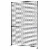 Steel Wire Mesh Panel, 1'W x 8'H