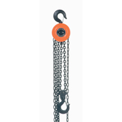 Manual Chain Hoist 10 Foot Lift 2,000 Pound Cap.