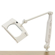 "Deluxe Rectangular Fluorescent Magnifier Lamp, 3 Diopter, 7"" x 5.5"" Lens, White"