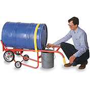 WESCO Drum Cradles - Mold-On Rubber Wheels - For Steel, Poly, or Fiber Drums