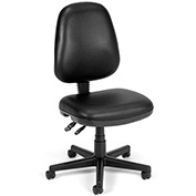 """OFM Anti-Bacterial Vinyl Seating - Chair - 18-22"""" Seat Height - Black"""