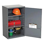 "Utility Wall Mount Cabinet, 19-7/8""W x 14-1/4""D x 32-3/4""H, Gray"