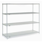 "Stainless Steel Wire Shelving, 72""W x 24""D x 63""H"