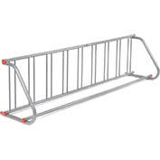 SARIS All-Steel Grid Rack - 9 Bikes - Galvanized Finish with Riveted Grid Poles