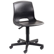 Contoured Plastic Chair, Black