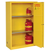 "Flammable Cabinet, 45 Gallon, Manual Close Bi-Fold Single Door, 43""W x 18""D x 65""H"