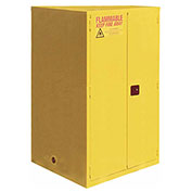 "Flammable Cabinet, 60 Gallon, Self Close Double Door, 34""W x 34""D x 65'H"