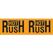 "3"" x 10"" Hot Rush Pallet Corner Labels, Fluorescent Orange, 500 Per Roll"