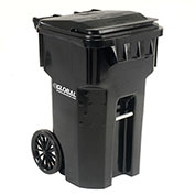 Otto Mobile Heavy Duty Trash Container, 65 Gallon, Black