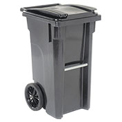 Otto Mobile Heavy Duty Trash Container, 35 Gallon, Gray