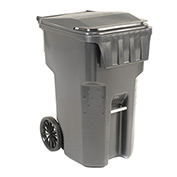 Otto Mobile Heavy Duty Trash Container, 95 Gallon, Gray