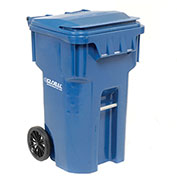 Otto Mobile Heavy Duty Trash Container, 65 Gallon, Blue